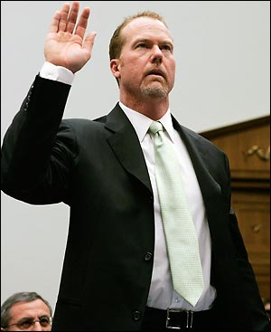 a research on the professional baseball career of mark mcgwire Mcgwire kept his high level of offensive production  for the fourth consecutive  season, he led mlb in hr.