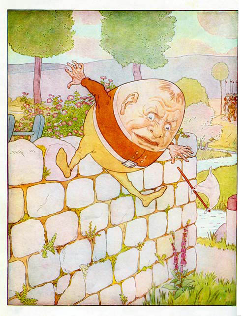 Humpty Dumpty sat on a wall